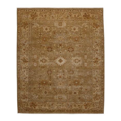 Oushak Rug, Light Gold/Ivory Product Tile Image 041518
