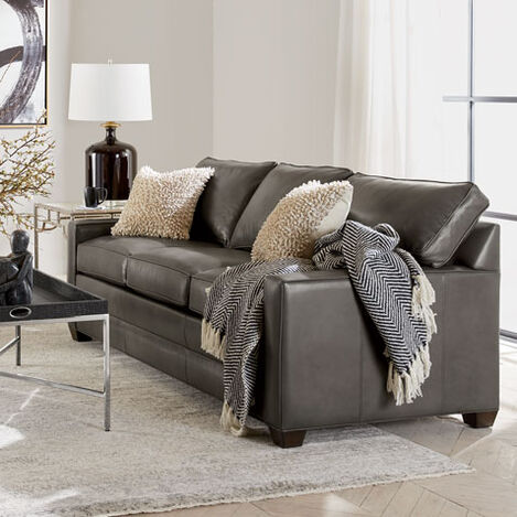 Bennett Track-Arm Leather Sofa, Quick Ship Product Tile Hover Image bennettTAlthQS