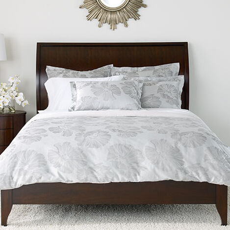 Susana Gray Floral Duvet Cover and Shams ,  , large