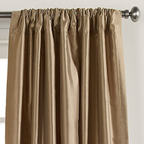 "100"" Champagne Satin Dupioni Rod-Pocket Panel ,  , hover_image"