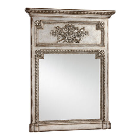 Antique Silver Madeleine Trumeau Wall Mirror Product Tile Image 074427B