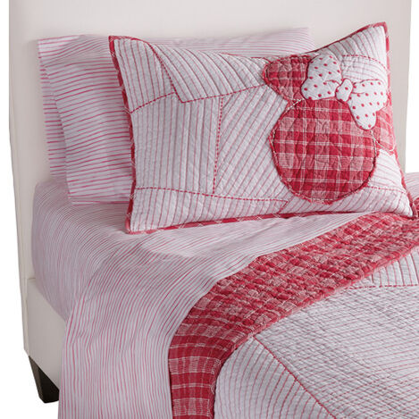 Ticking Stripe Minnie Quilt and Sham ,  , large
