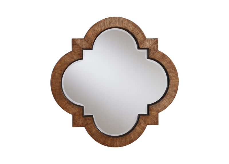 Light Quatrefoil Mirror ,  , large_gray