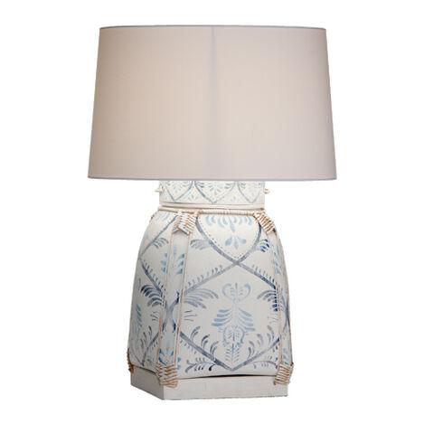 Jasmine Blue Bamboo Table Lamp ,  , large