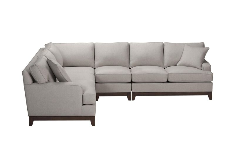 Arcata Four Piece Sectional, Quick Ship , Hailey Slate (Q1054), solid texture , large_gray