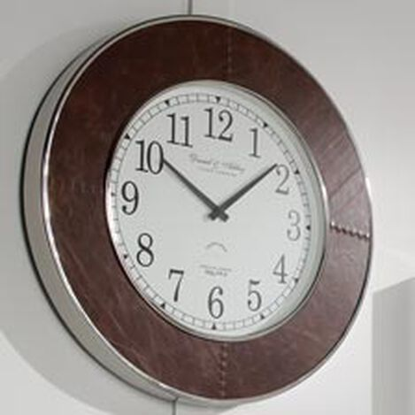 Leather Wall Clock Product Tile Hover Image 412286