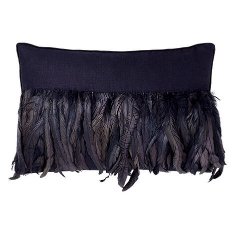 Navy Feathered Pillow ,  , large