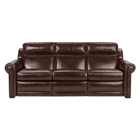 Johnston Roll-Arm Leather Incliner Sofa Product Tile Image 737932