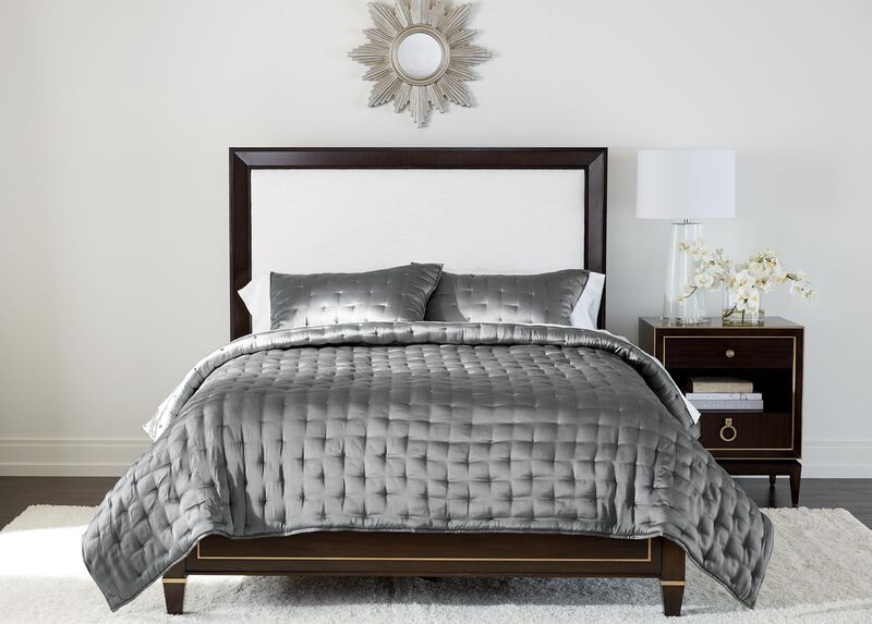 Washed Eucalyptus Silk Coverlet and Shams