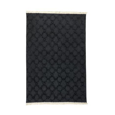 Lattice Soumak Rug, Black ,  , large