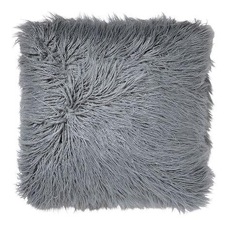 Faux Fur Pillow, Mineral ,  , large