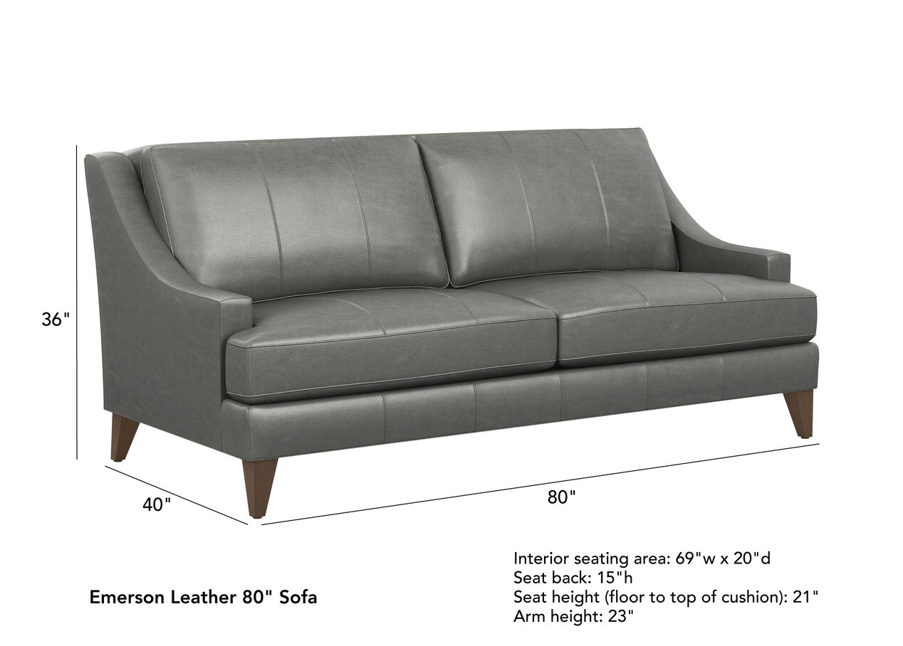 Emerson Leather Sofa Quick Ship Sofas Amp Loveseats