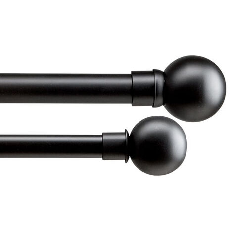 Ball Finials and Drapery Hardware Set, Flat Black Product Tile Image BallFlatBlack