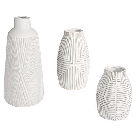 Aztec White Vase ,  , large