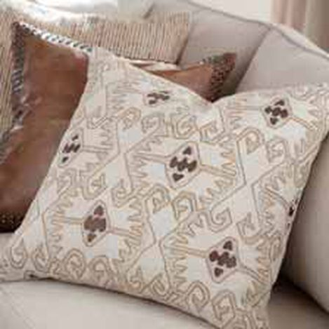 Taupe Embellished Pillow ,  , hover_image