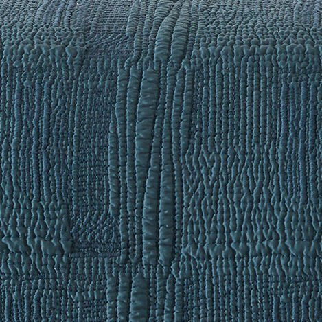 Teal Rice Stitch Kantha Quilt and Shams Product Tile Hover Image RiceStitchTeal