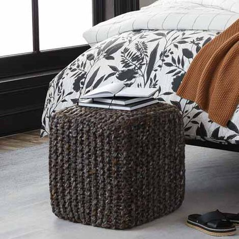 Thea Wool Pouf Product Tile Hover Image 421852