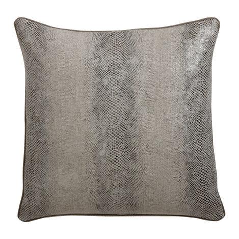 """Lucien 20"""" Faux Lizard Pillow ,  , large"""