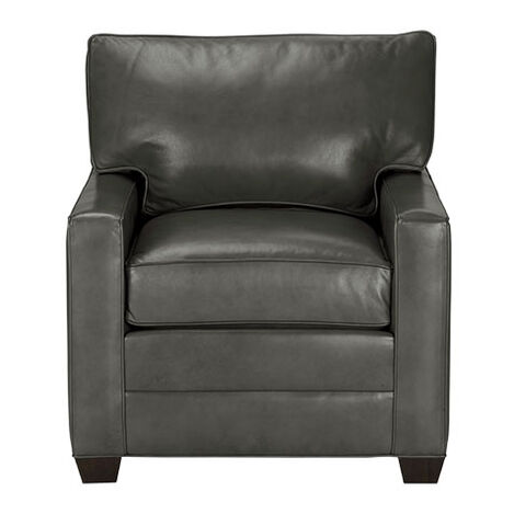 Bennett Track-Arm Leather Chair, Quick Ship ,  , large