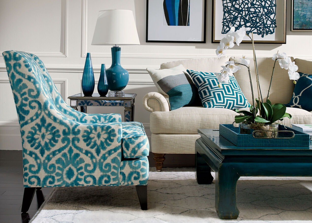 Living Room Accent Chairs Teal And Gray