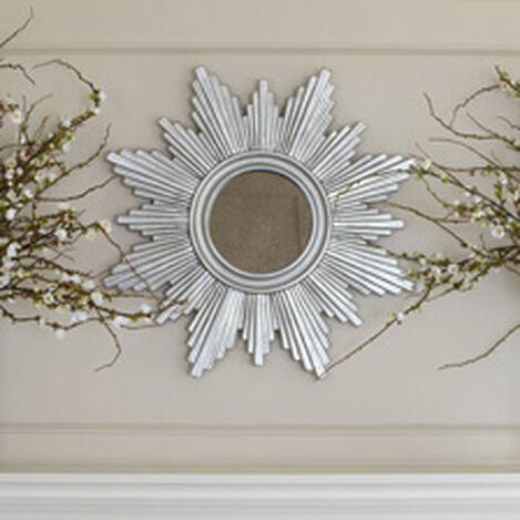 """26"""" Silver Sunburst Mirror ,  , hover_image"""