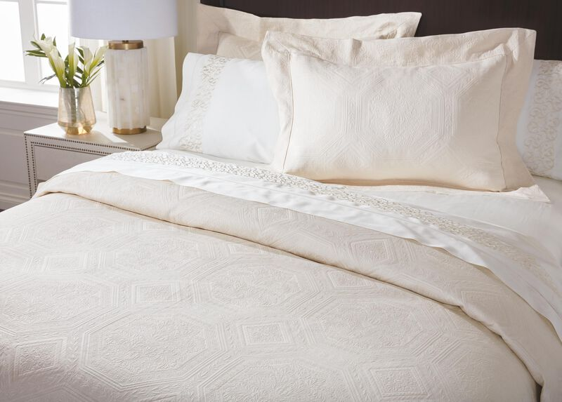Olympia Matelassé Coverlet and Shams
