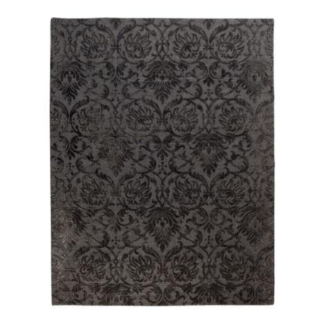 Jacquard Damask Rug, Charcoal Product Tile Image 041253