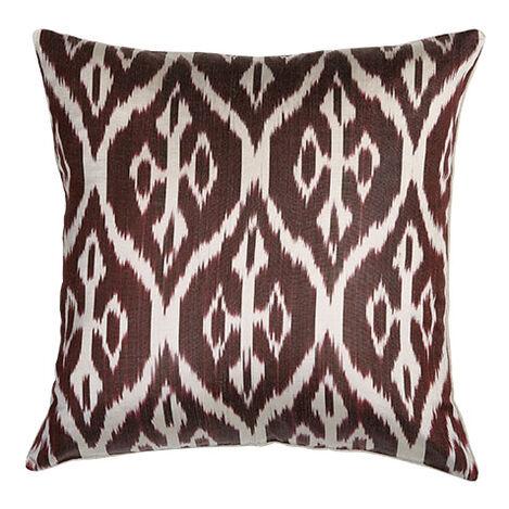Silk Ikat Pillow, Smoky Rose ,  , large