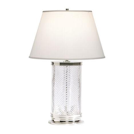 Lampe de Table en Cristal à Chevrons ,  , large