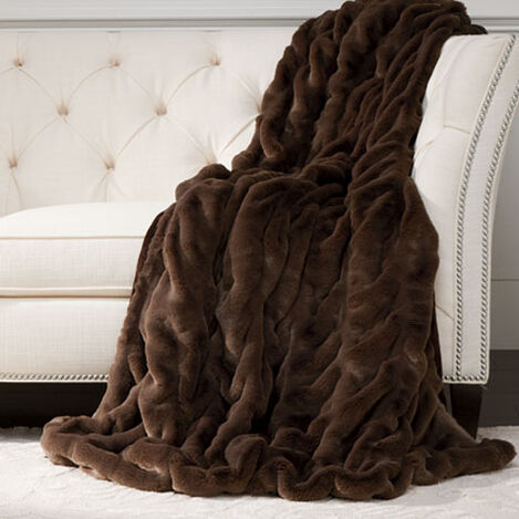 Faux Fur Mink Throw ,  , large