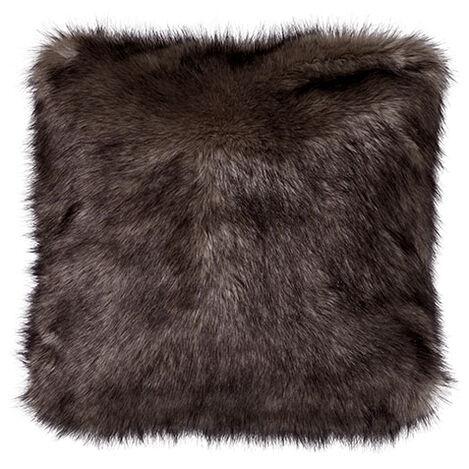 Faux Fur Wolf Pillow ,  , large