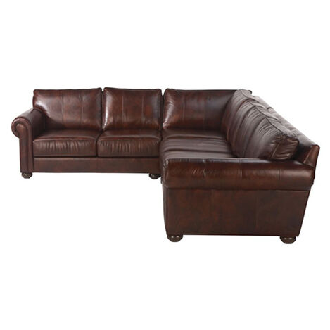 Richmond Leather Sectional, Old English Chocolate ,  , large
