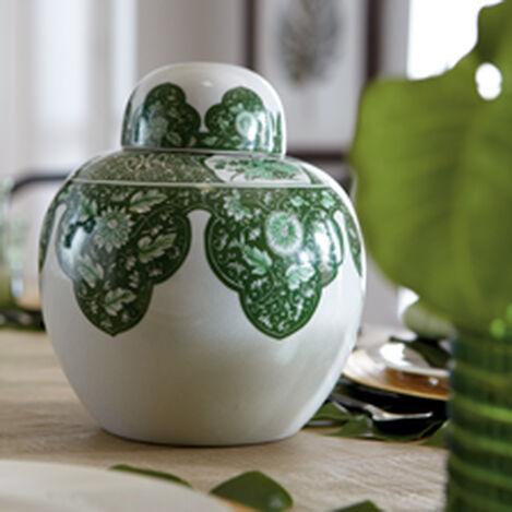 Green Round Lidded Jar ,  , hover_image