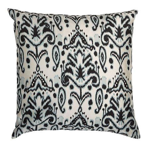 Silk Ikat Pillow, Blue/Black Product Tile Image 061309