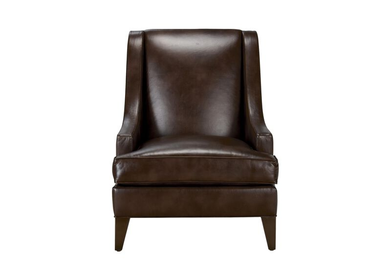 Emerson Leather Chair, Quick Ship