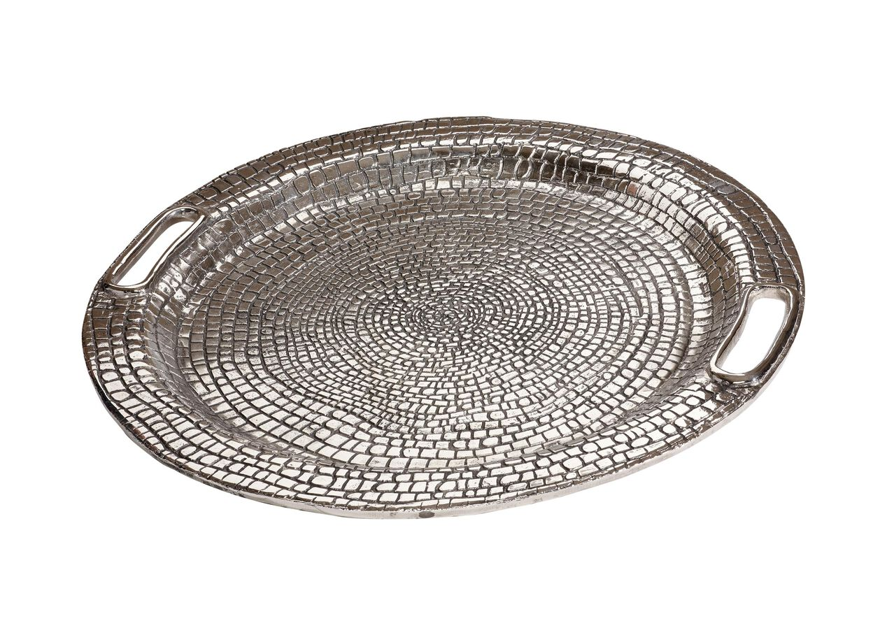 Round croco tray decorative accents for Aana decoration decorative tray