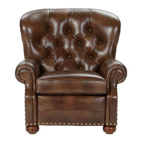 Cromwell Leather Recliner, Omni/Tobacco Product Tile Image 837949 L7876