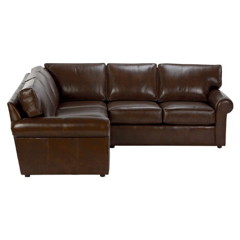 Retreat Roll-Arm Leather Three Piece Sectional, Quick Ship ,  , large