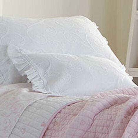 Minnie Mouse Scroll Matelassé Boudoir Pillow, Snow ,  , hover_image