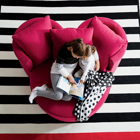 Mickey Mouse Stripe Rug Product Tile Hover Image 041008
