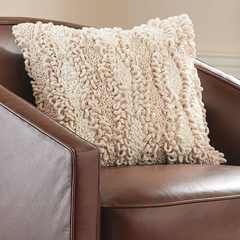Looped Pillow, Natural Product Tile Hover Image 065754