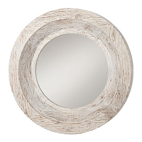 Antique White Reclaimed Mirror ,  , large