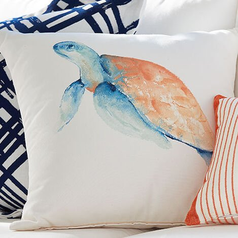 Sea Turtle Outdoor Pillow Product Tile Hover Image 404705