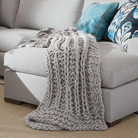 Cross Cable Knit Throw Product Tile Hover Image 031895MST