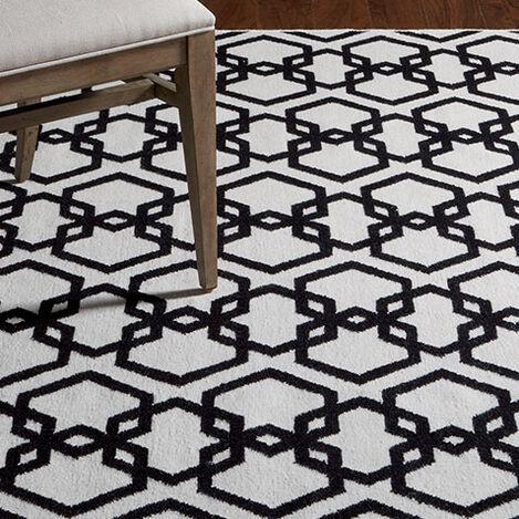 Interlock Rug, Ivory/Black Product Tile Hover Image 041217