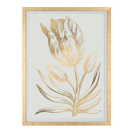 Gold Foil Floral I ,  , large
