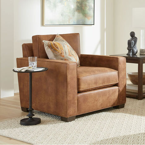 Spencer Track-Arm Leather Chair Product Tile Hover Image spencerTAchairLTH