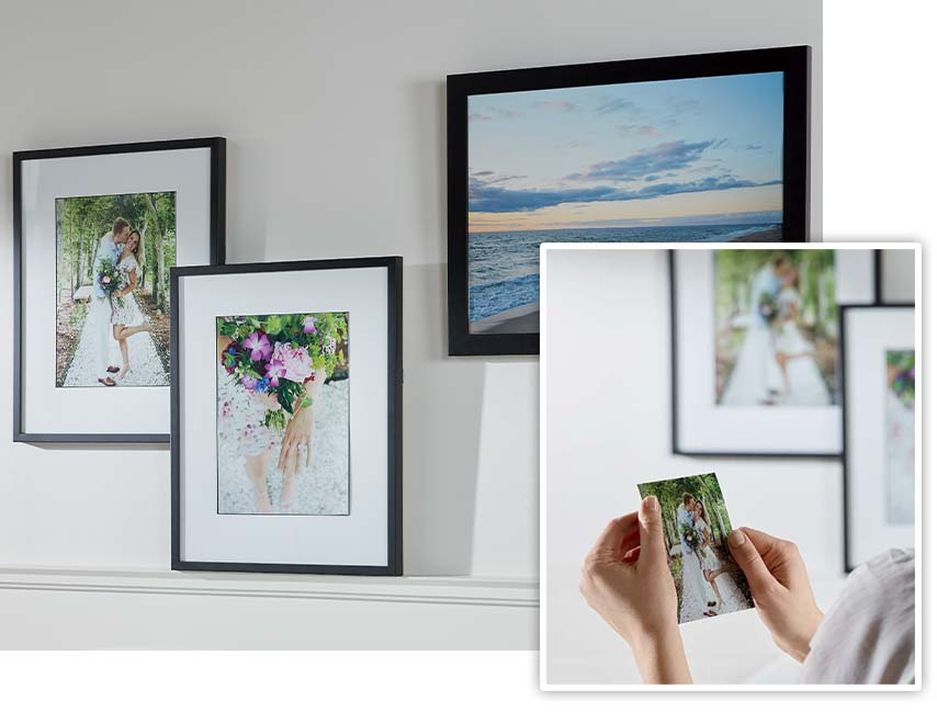 upload your own photo to print and frame