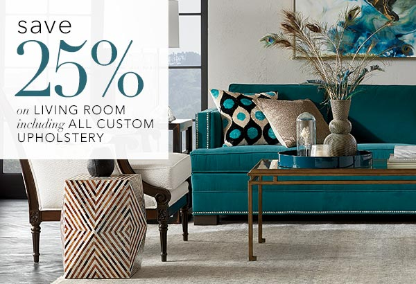 save 25% on living room