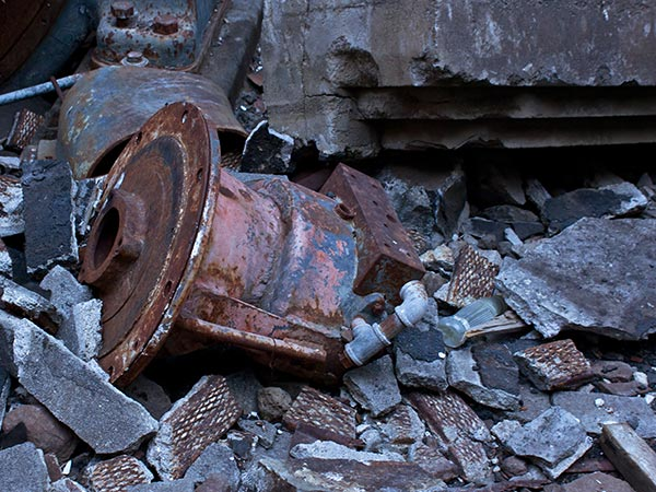 remnants of old building